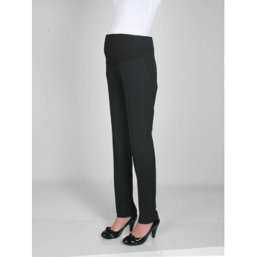 Pregnant Classic Fabric narrow-leg pants